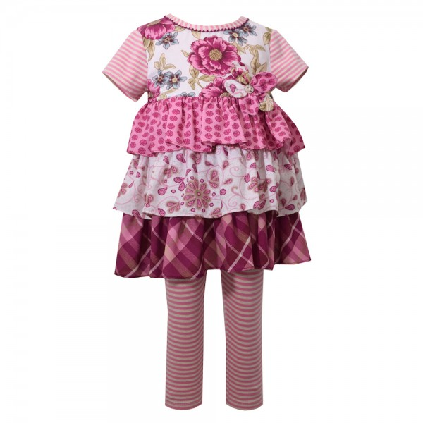 BONNIE JEAN 2tlg. SET Kleid & Leggings - ROSE B30052-PS