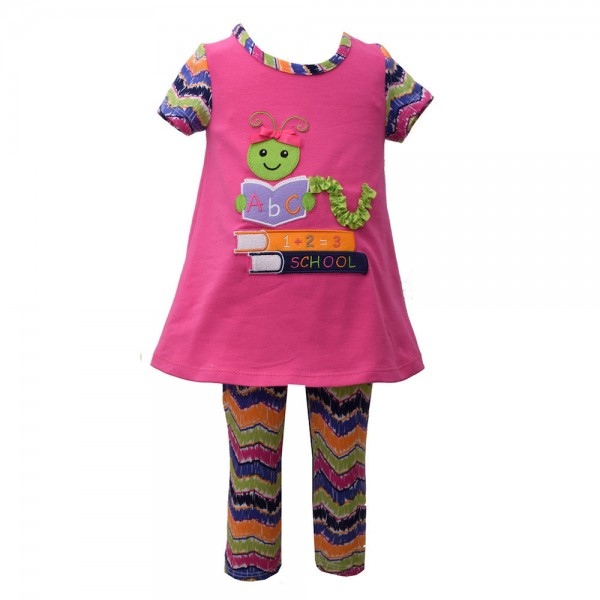 BONNIE JEAN 2tlg. SET Kleid & Leggings - WURM B39962-PS
