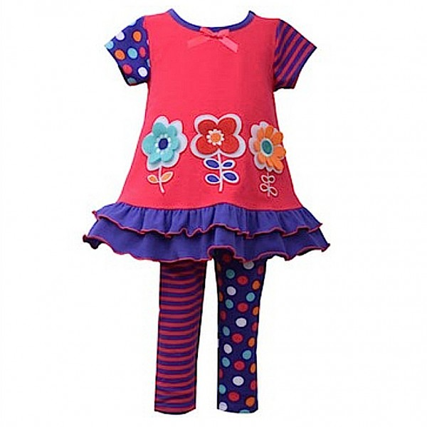 BONNIE JEAN 2tlg. SET Kleid & Leggings - STRIPES & DOTS B25388-PS