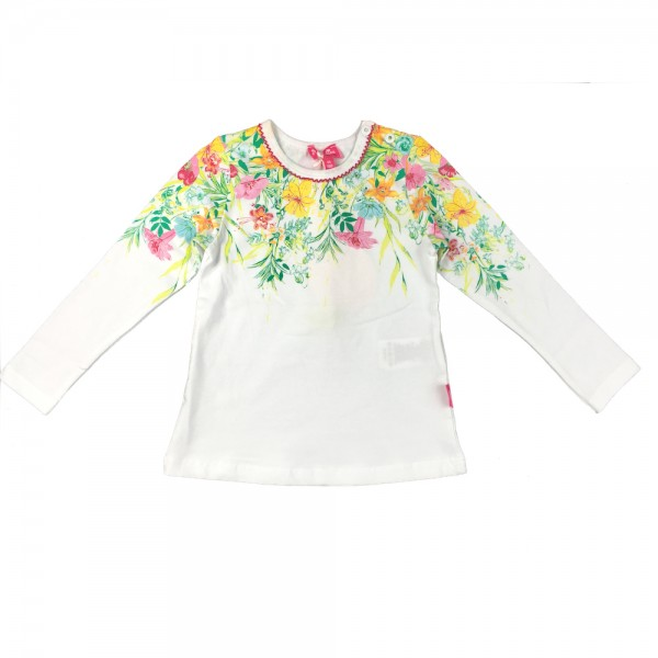 PAMPOLINA 6563051 Shirt 1/1 Arm - White Flowers
