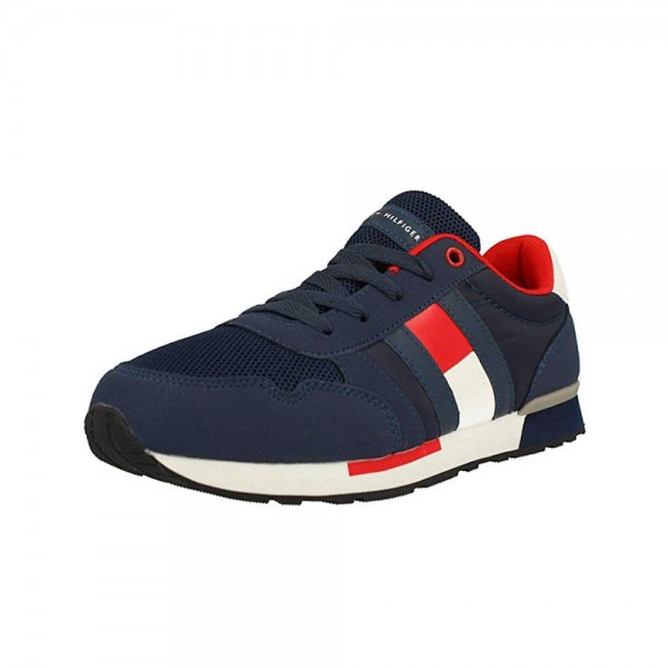 TOMMY HILFIGER Lace Up Sneaker T3B4-30482-0732800 blau