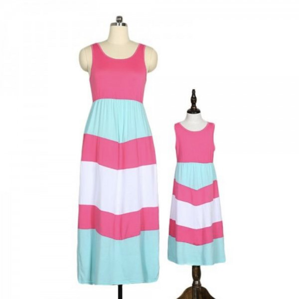 PARTNERLOOK Mutter & Tochter Kleid Sommerkleid Casual
