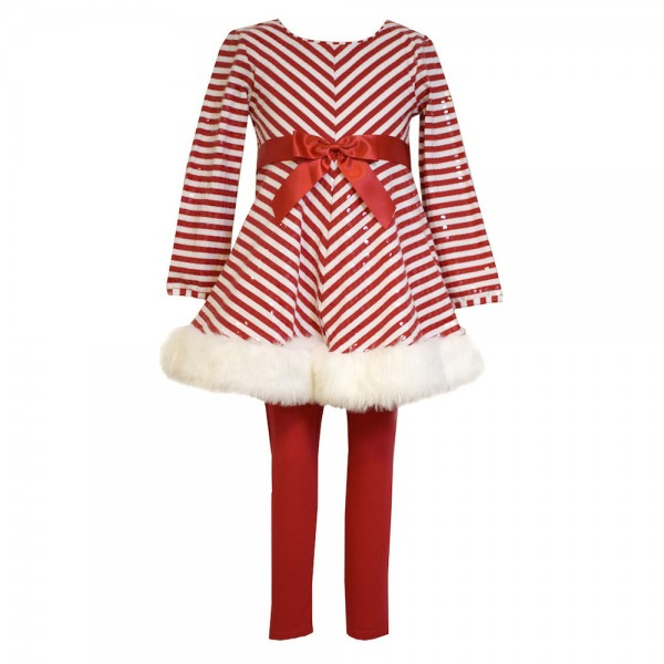 BONNIE JEAN 2 Teile SET Kleid & Leggings - X-MAS OUTFIT X32101-PL