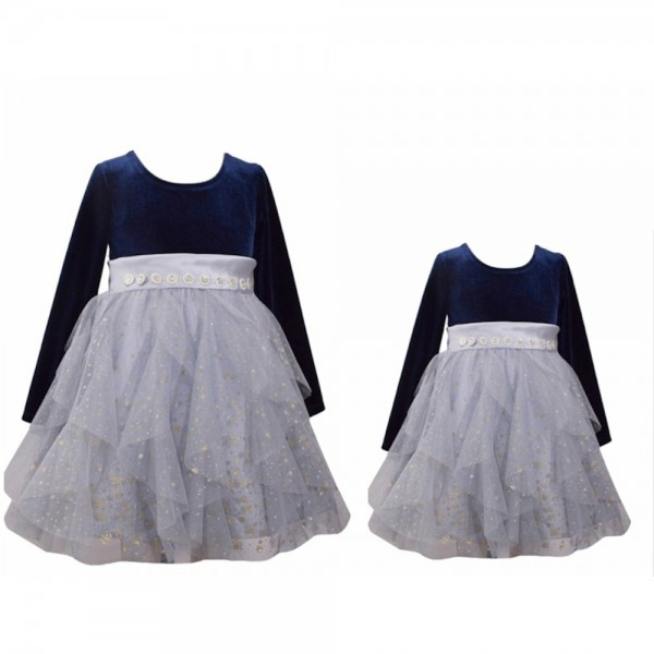 PARTNERLOOK Mutter & Tochter Kleid - blau